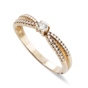 Diamond encrusted Rose Gold dress ring