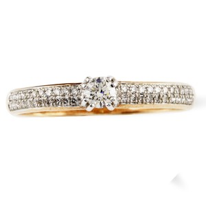 Rose Gold and Diamond Encrusted Dress Ring