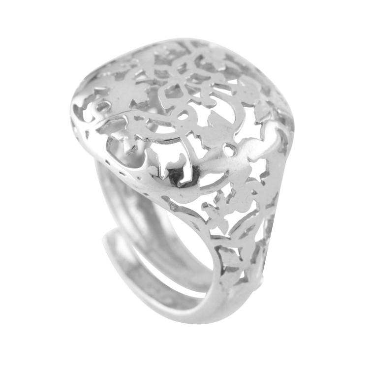 Italian Silver Filigree Dress Ring