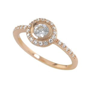 Silver Cubic Zirconia Dainty Ring