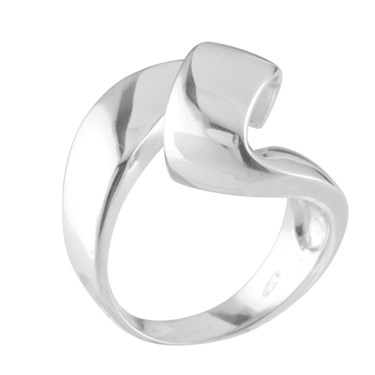 Italian Silver Contemporary Ribbon Ring