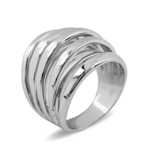 Italian Silver Multi Rail Ring