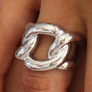 Italian Silver Chain Ring