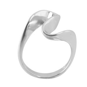 Italian Silver Valley Ring