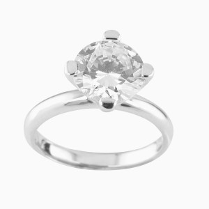 Silver Solitaire 4 Prong Ring