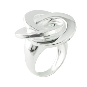 Contemporary Italian Silver Ring Of Swirls