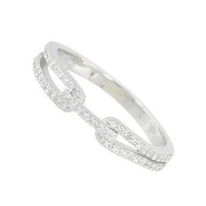 Silver Links Cubic Zirconia Ring