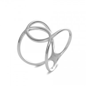 Italian Silver Open Wide Band Ring
