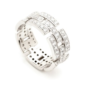 Silver Cubic Zirconia Chain Ring