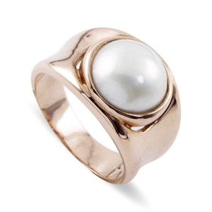 9K Rose Gold South Sea Mabe Pearl Ring